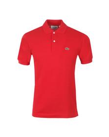 Lacoste Mens Red L1212 Plain Polo Shirt