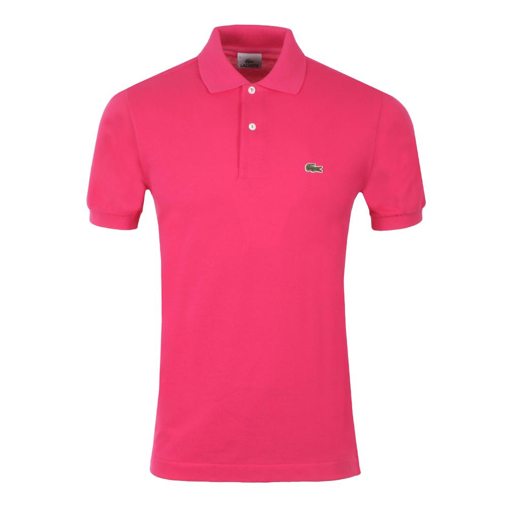 Lacoste L1212 Camellia Pink Plain Polo Shirt   Oxygen Clothing e7dce511e2