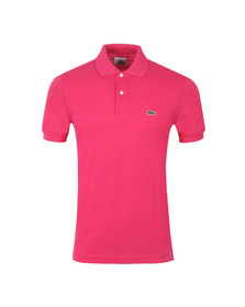 Lacoste Mens Pink L1212 Camellia Pink Plain Polo Shirt