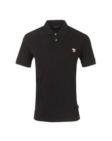 Paul Smith Jeans Mens Black Basic Zebra Logo Black Polo