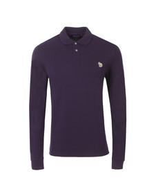 Paul Smith Jeans Mens Purple LS Zebra Polo Shirt