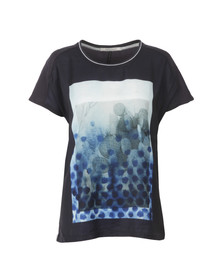 Maison Scotch Womens Blue 128569 Photoprint T Shirt