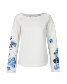 Maison Scotch Womens Off-white Allover Printed Sweatshirt