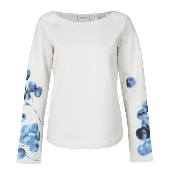 Maison Scotch Womens Off-white Allover Printed Sweatshirt main image