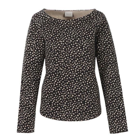 Maison Scotch Womens Black Allover Printed Sweatshirt main image