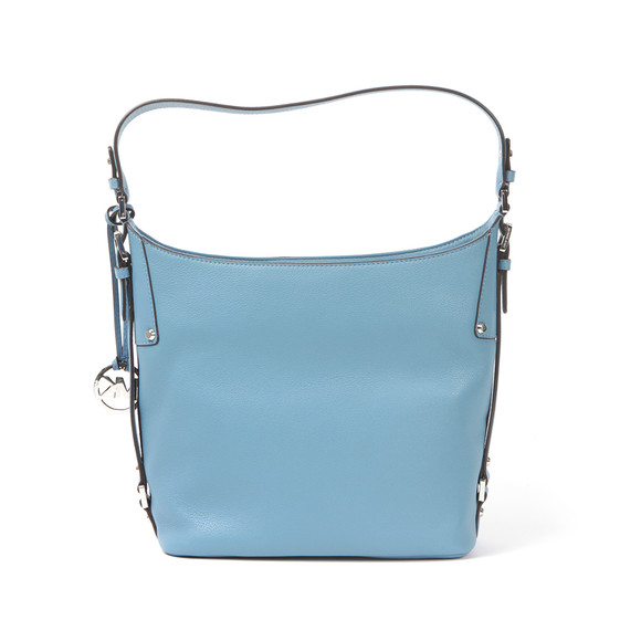 Michael Kors Womens Blue Belted Mid Shoulder Bag main image