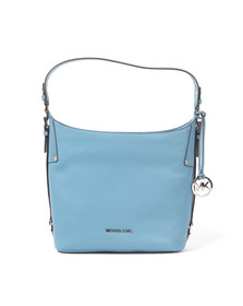 Michael Kors Womens Blue Belted Mid Shoulder Bag