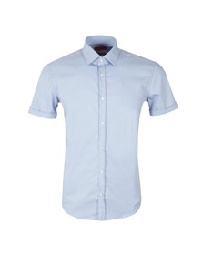 Hugo Mens Blue C-Jennino Short Sleeve Shirt