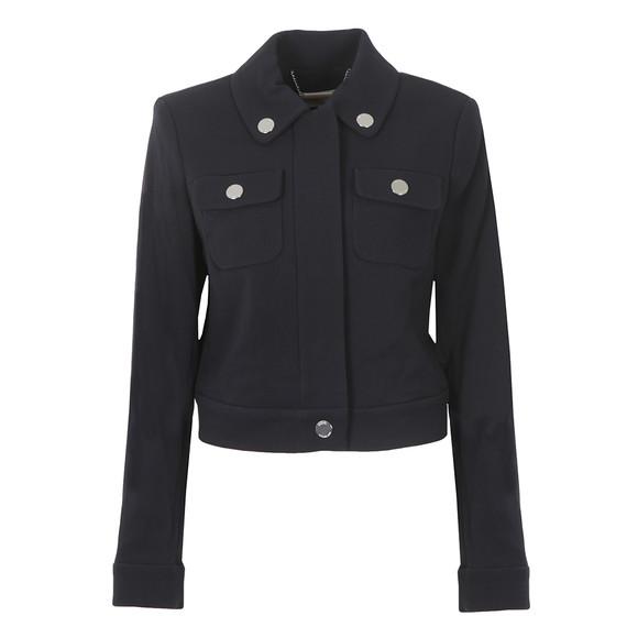 Michael Kors Womens Blue Cropped Snap Jacket main image
