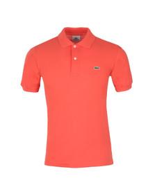Lacoste Mens Red L1212 Goyave Plain Polo Shirt