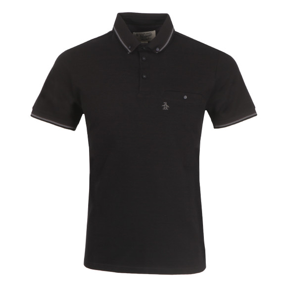 Original Penguin Mens Black Falcon Polo Shirt main image