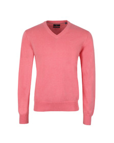Gant Mens Pink V Neck Jumper