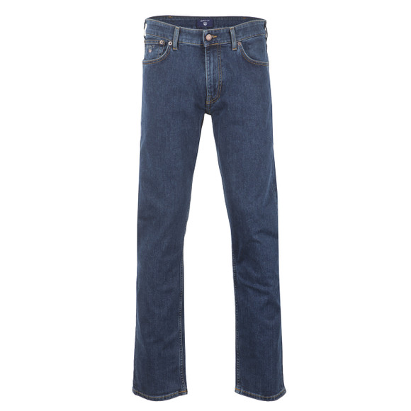 Gant Mens Blue Straight Leg Jean main image