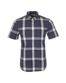 Farah Mens Blue Herne Slim Fit Check Shirt