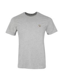 Paul Smith Jeans Mens Grey Zebra Badge Crew T-Shirt