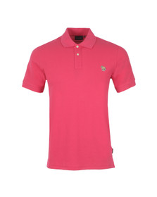 Paul Smith Jeans Mens Pink Basic Zebra Polo Shirt