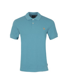Paul Smith Jeans Mens Blue Paul Smith Turquoise Basic Polo