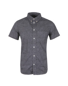 Paul Smith Jeans Mens Blue Short Sleeve Classic Fit Shirt