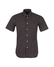 PS by Paul Smith Mens Blue Tailored Patterned Short Sleeve Shirt