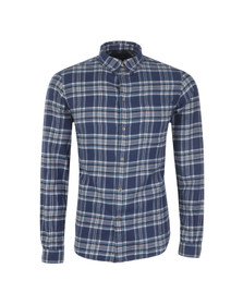 Paul Smith Jeans Mens Blue Check Tailored Fit Shirt