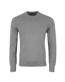 Paul Smith Jeans Mens Grey Ribbed Stripe Jumper