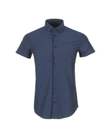 Armani Jeans Mens Blue C6C25 Short Sleeve Shirt