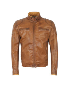 Matchless Mens Brown Osborne Vent Leather Blouson