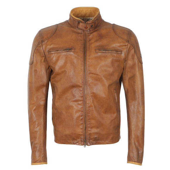 Matchless Mens Brown Osborne Vent Leather Blouson main image