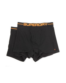 Superdry Mens Black Sport Boxer Double Pack