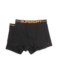 Superdry Mens Black Sport Boxer Double Pack
