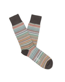 Paul Smith Jeans Mens Off-white New Classic Multi Stripe Sock
