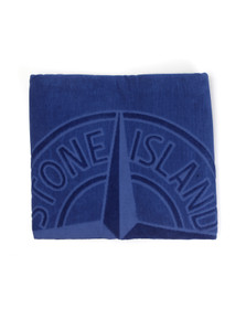 Stone Island Unisex Blue Large Logo Beach Towel