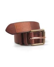 Superdry Mens Brown Western Belt In A Tin