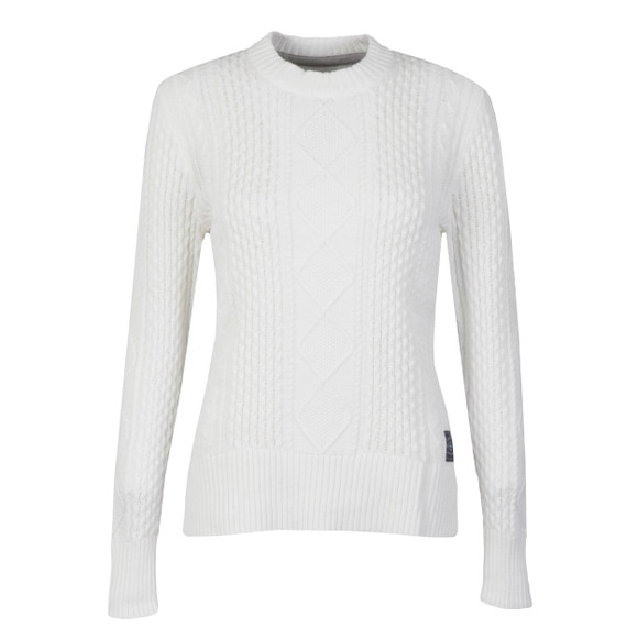 Superdry Womens White Saunton Cable Knit main image
