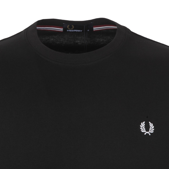 Fred Perry Mens Black Crew Neck T-Shirt main image