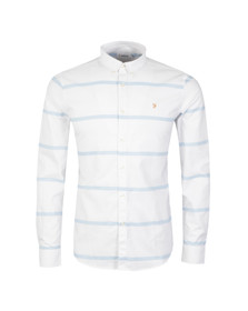 Farah Mens Blue Merrick Slim Stripe Shirt