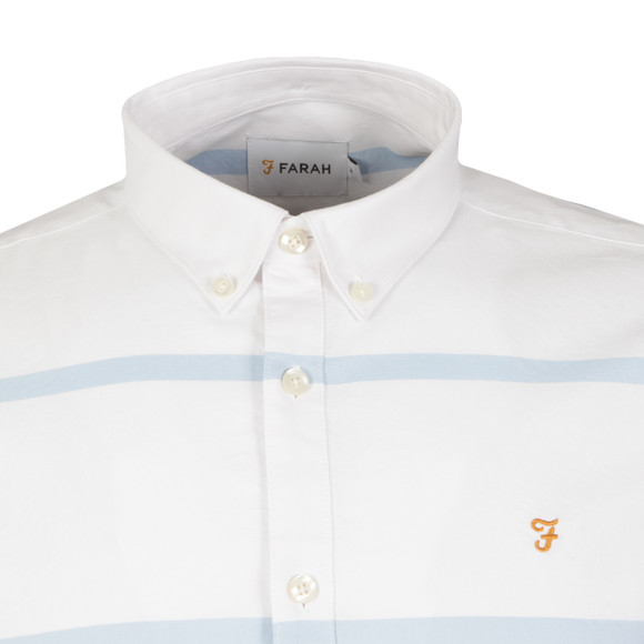 Farah Mens Blue Merrick Slim Stripe Shirt main image