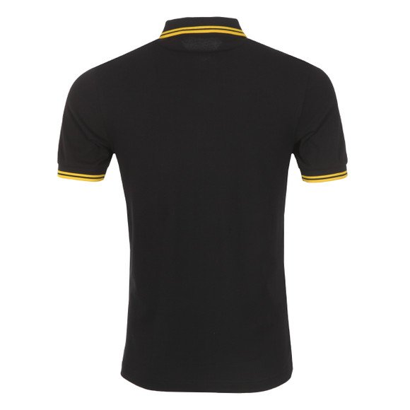Fred Perry Mens Black Twin Tipped Polo Shirt main image