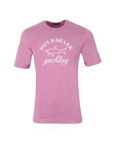 Paul & Shark Mens Pink Knitted SS Print T-Shirt