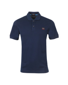 Paul & Shark Mens Blue Knitted SS Solid Polo