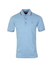 Paul & Shark Mens Blue Knitted SS Trim Collar Polo