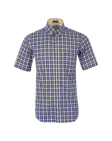 Paul & Shark Mens Blue Woven SS Check Shirt