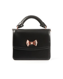 Ted Baker Womens Black Juliee Highshine Metal Bow Mini Lady Bag