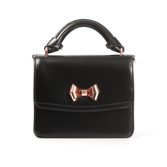 Ted Baker Womens Black Juliee Highshine Metal Bow Mini Lady Bag main image