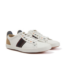 Paul Smith Jeans Mens White Osmo Mono Leather Trainer