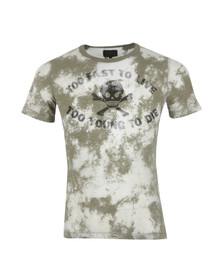 Vivienne Westwood Anglomania Mens Green Too Fast To Live T Shirt