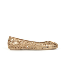 Vivienne Westwood Anglomania X Melissa Womens Gold Scribble Shoe