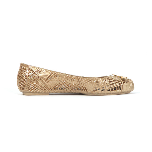 Vivienne Westwood Anglomania X Melissa Womens Gold Scribble Shoe main image