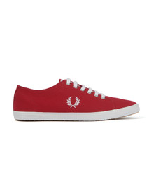 Fred Perry Mens Red Kingston Twill Plimsole