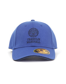 Franklin & Marshall Mens Blue Small Embroidered Logo Cap